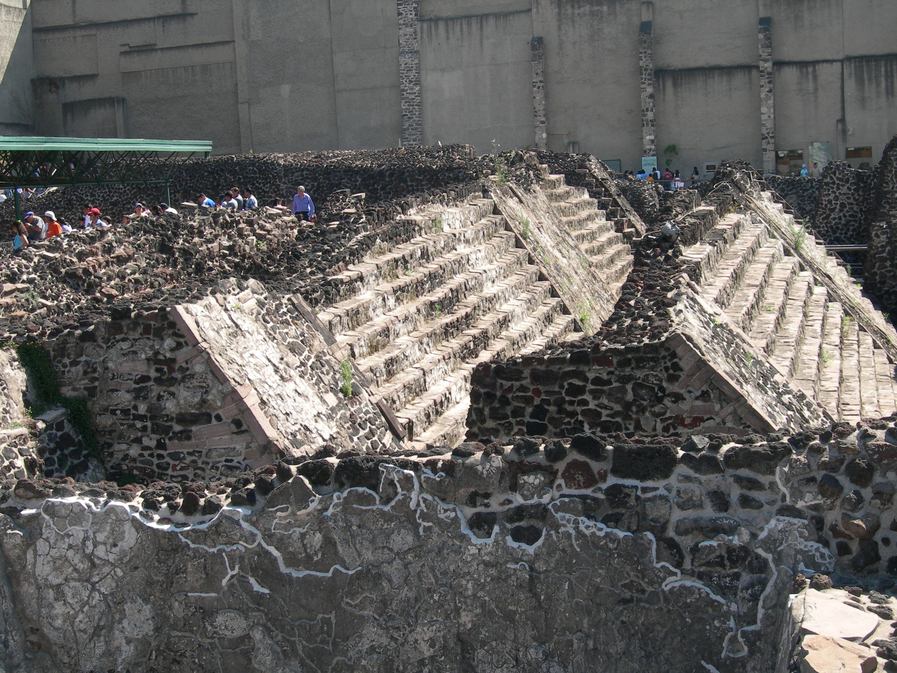 FIGURE 15. Two pairs of stairways from two successive phases of construction at the Templo Mayor.
