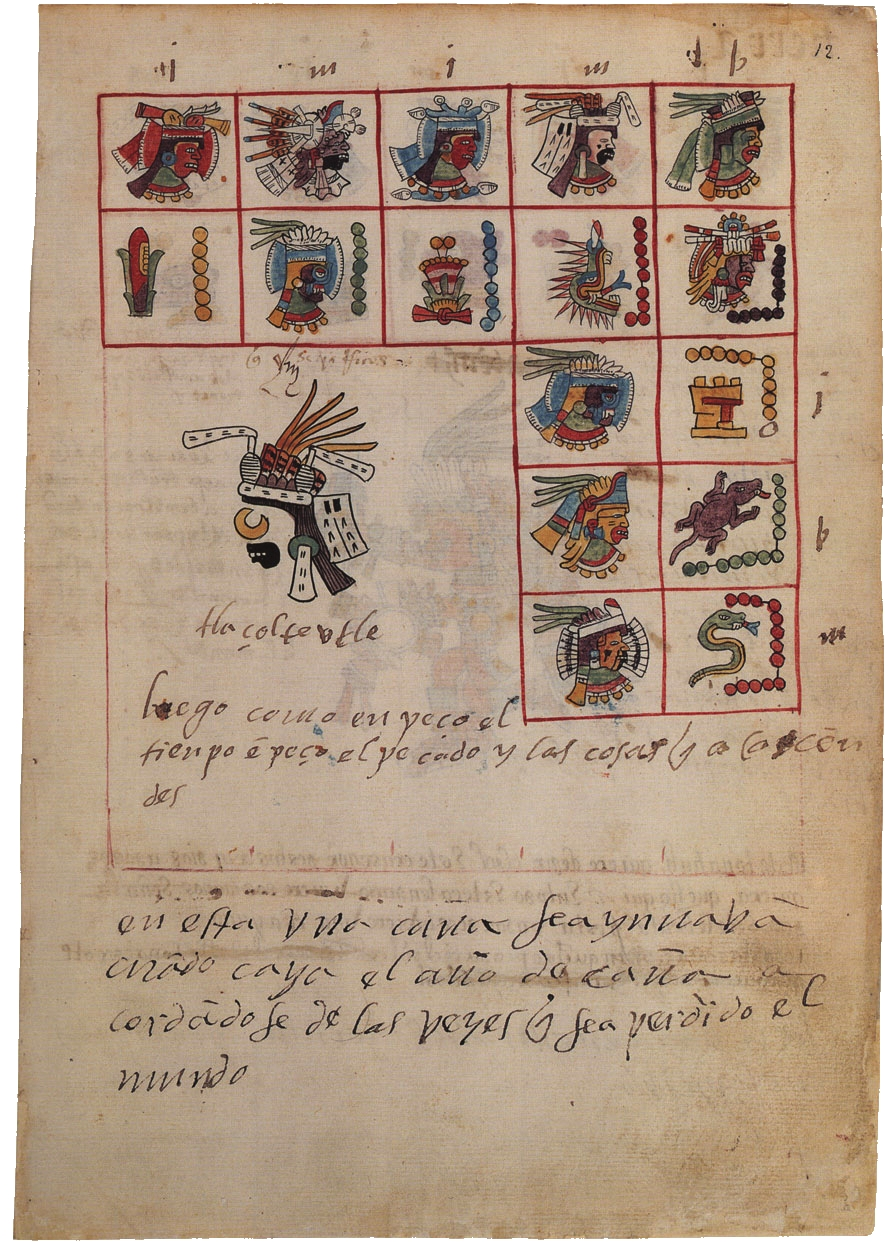 FIGURE 2. Tlazolteotl as costume elements on folio 12r of the Codex Telleriano-Remensis.