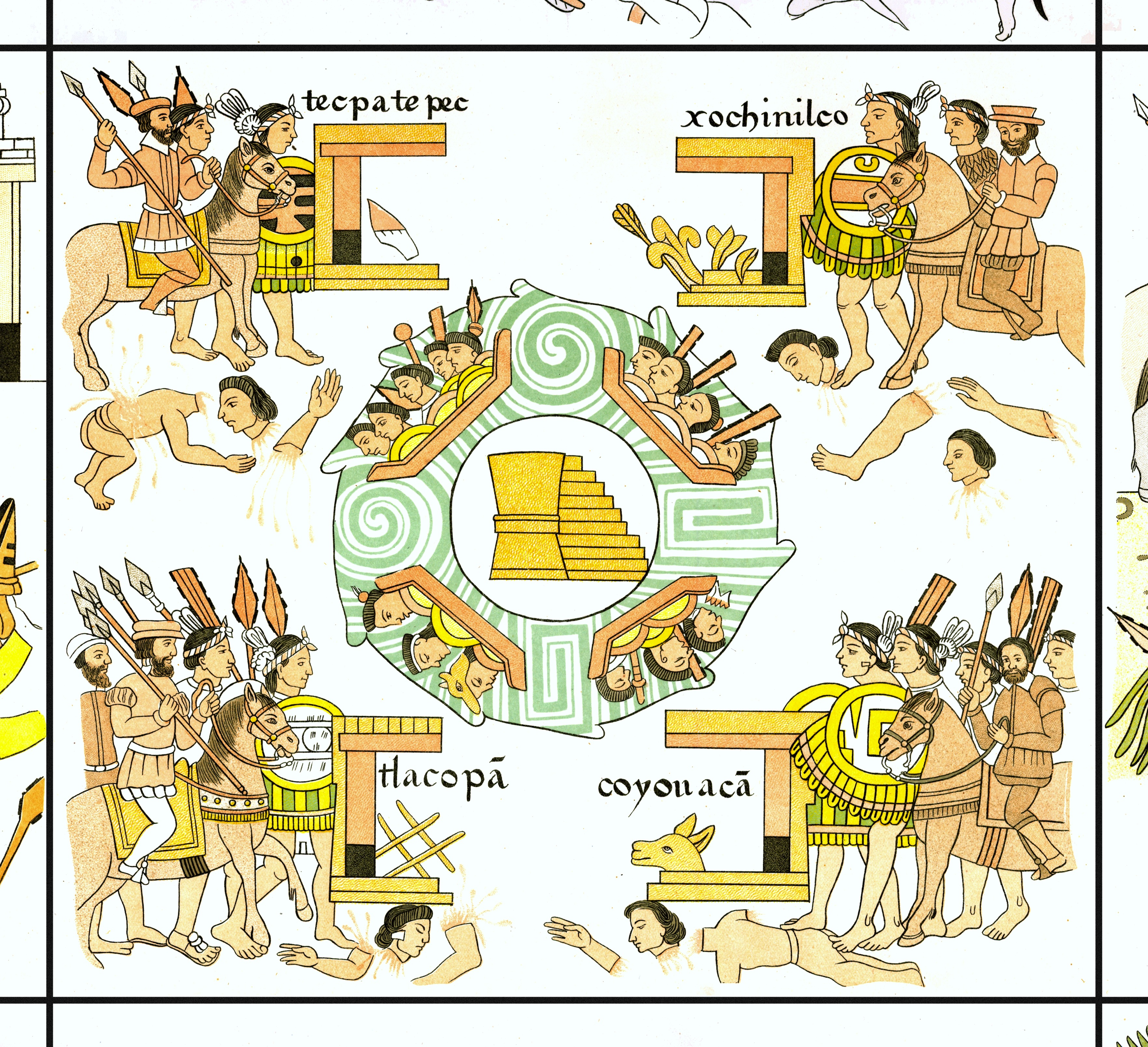 FIGURE 28. Cell 42 of the Lienzo de Tlaxcala: Tenochtitlan in the middle of Lake Texcoco.