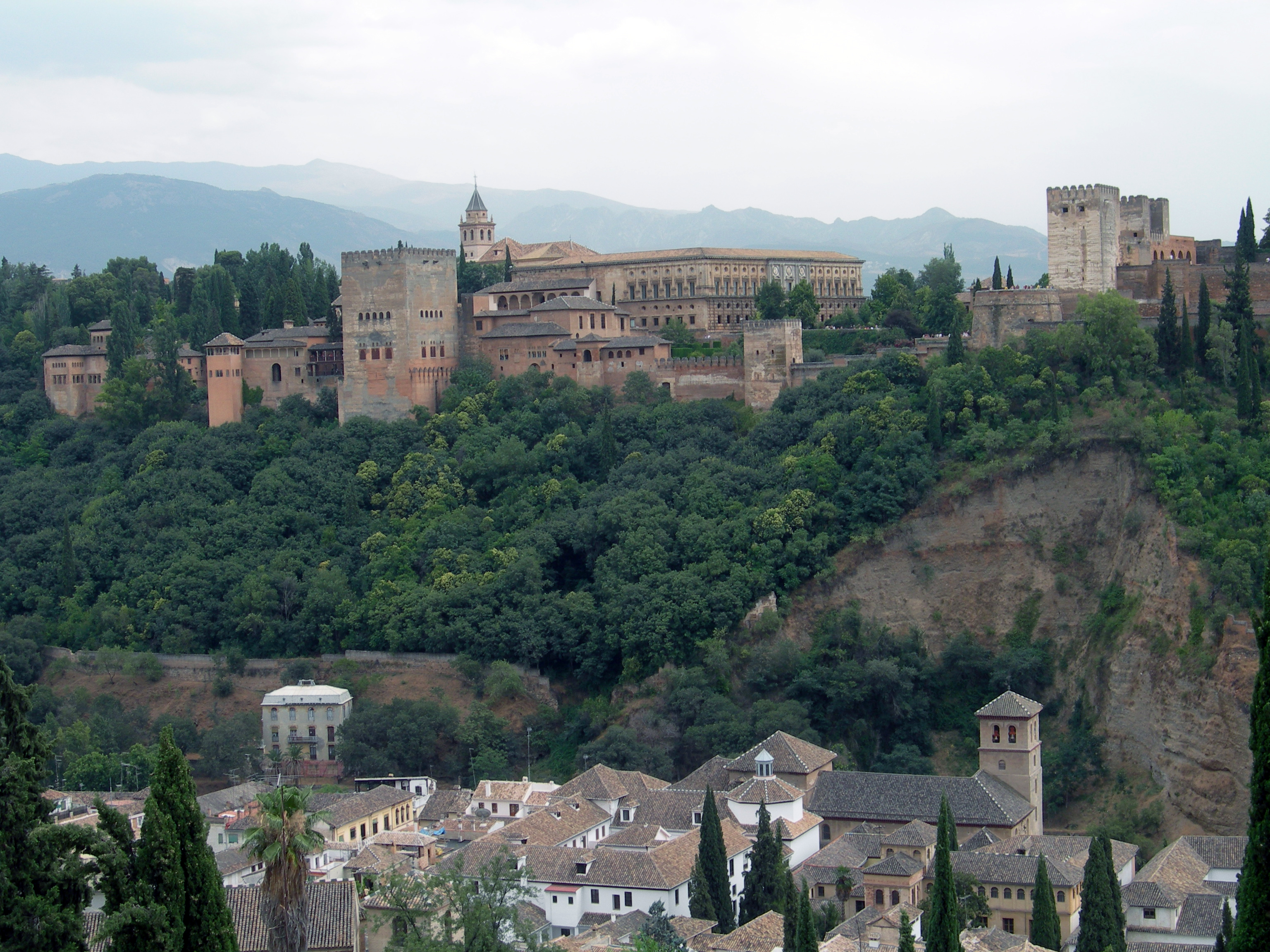 FIGURE 7. View of the Alhambra, the Muslim palace at Granada. Photo by Byron Hamann.