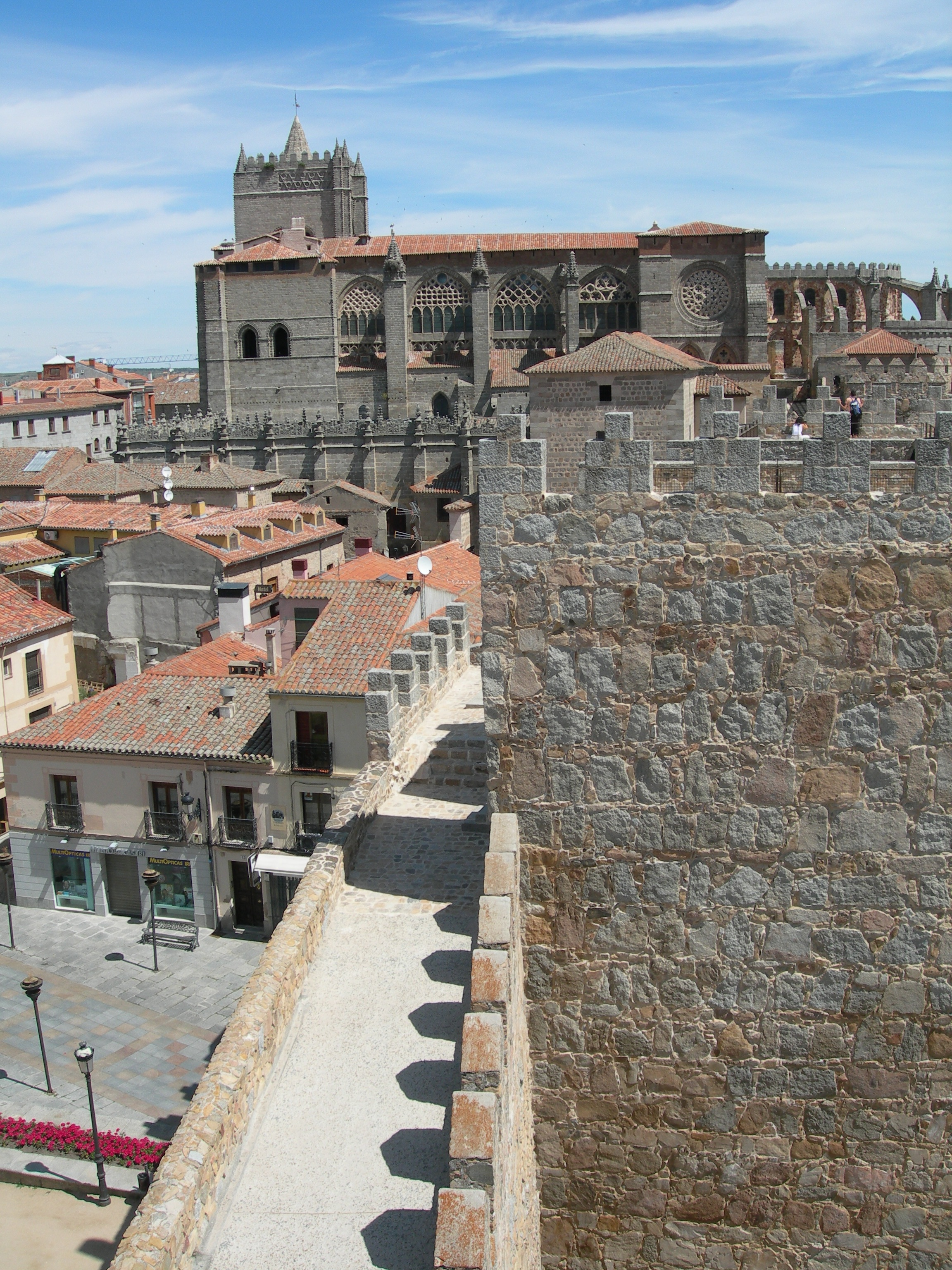 FIGURE 8. The cathedral of Ávila, as seen from the medieval city walls. Photo by Byron Hamann.