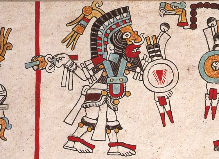 "FIGURE 6. Lord 4 Jaguar ""Nose Wart,"" from page 70 of the Codex Nuttall."