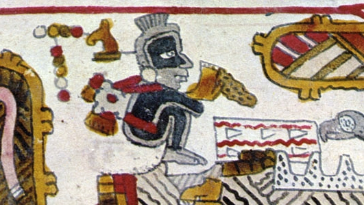 FIGURE 18. Priest with blacked body, from page 11 of the Codex Selden.
