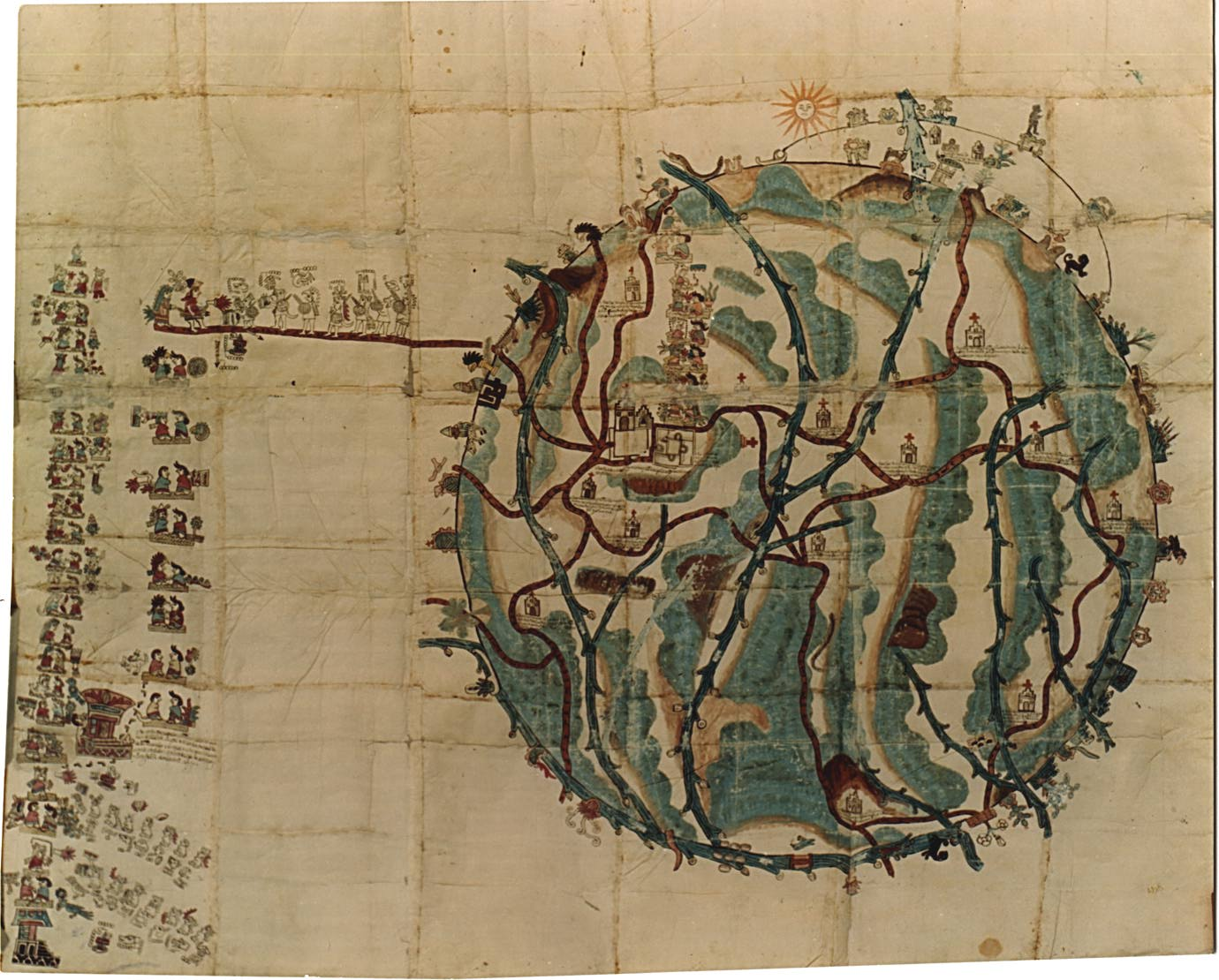 FIGURE 2. The Mapa de Teozacoalco, circa 1580. Image courtesy of the Benson Latin American Library, University of Texas at Austin.