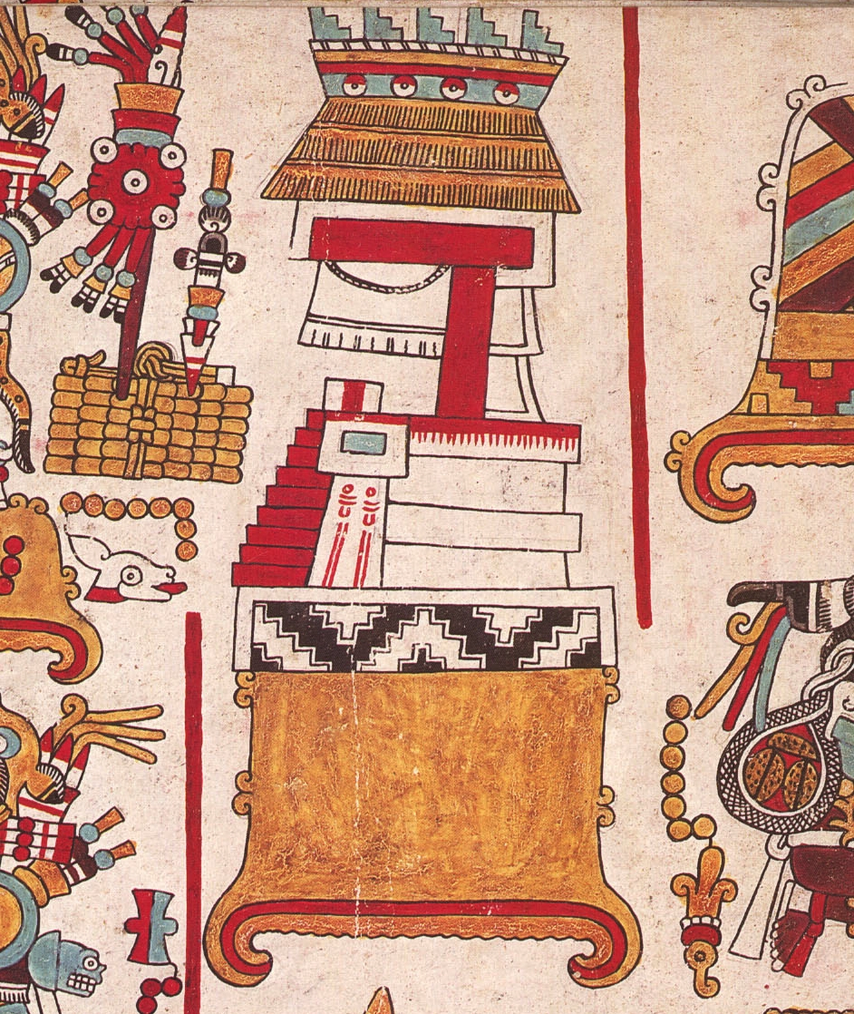 FIGURE 9. The Huahi Andehui or Temple of Heaven at Tilantongo, from page 68 of the Codex Nuttall.