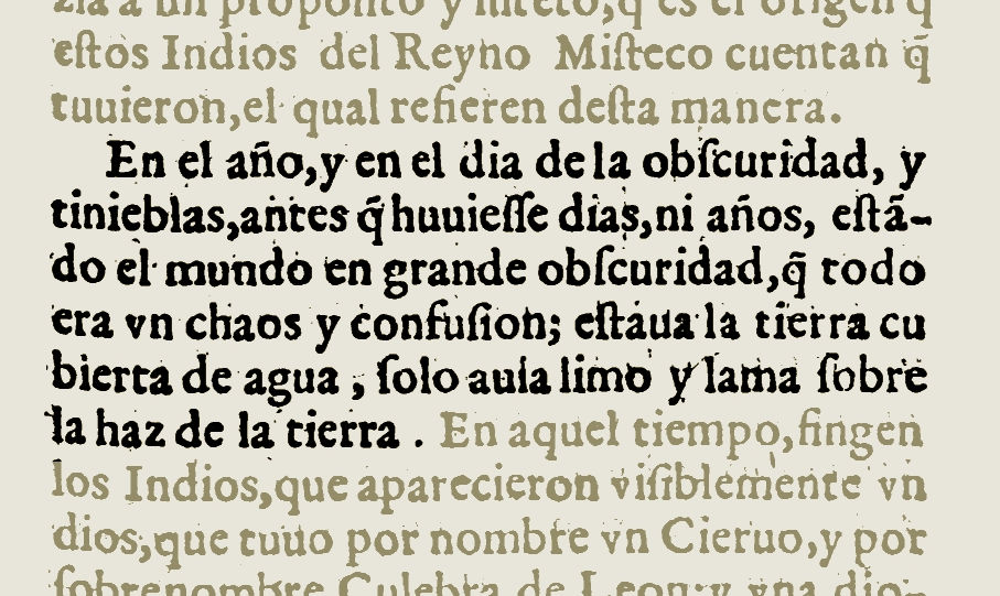 FIGURE 12. Detail from page 513 of the 1607 edition of Fray Gregorio Garcia's _Origen de los Indios de el Nuevo Mundo e Indias Occidentales_. Image from the copy in the library of the Universidad Complutense, Madrid, Spain; courtesy of Google Books.