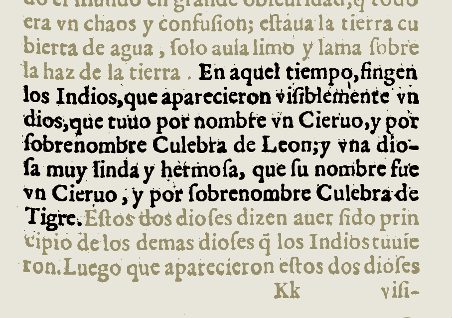 FIGURE 13. Detail from page 513 of the 1607 edition of Fray Gregorio Garcia's _Origen de los Indios de el Nuevo Mundo e Indias Occidentales_. Image from the copy in the library of the Universidad Complutense, Madrid, Spain; courtesy of Google Books.