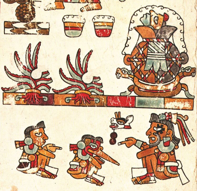 FIGURE 15. The creation of pulque, from page 25 of the Codex Vienna.