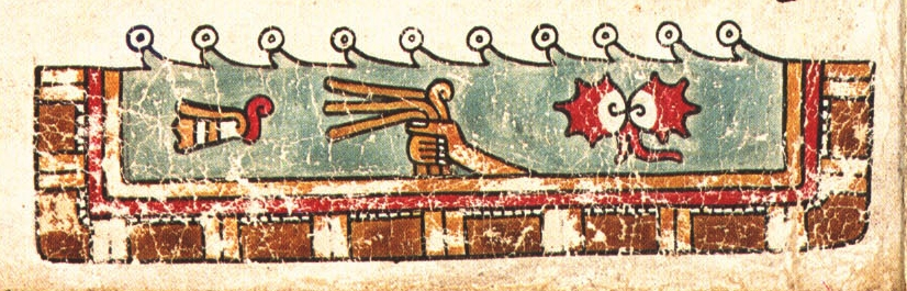 FIGURE 17. The river of Apoala, from page 25 of the Codex Vienna.