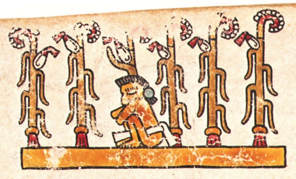 FIGURE 6. Man in a maize field, from page 11 of the Codex Vienna.