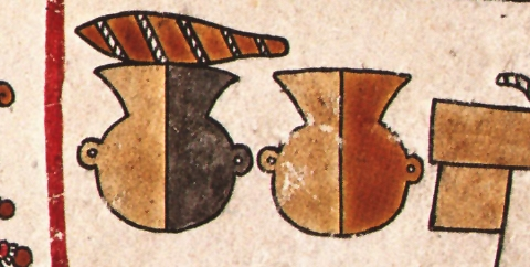 FIGURE 20. Two ollas, from page 18 of the Codex Vienna.