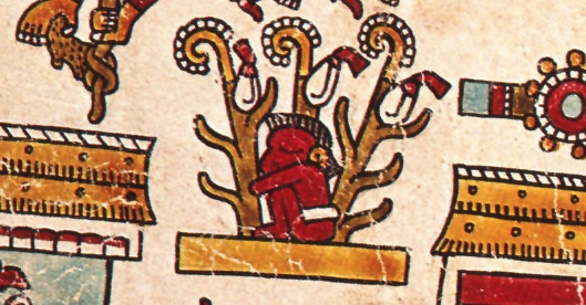 FIGURE 21. Man in a maize field, from page 15 of the Codex Vienna.