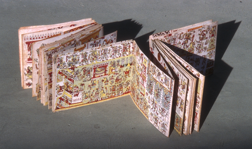 FIGURE 2. The screenfold format of the Codex Nuttall. Photo by Byron Hamann.