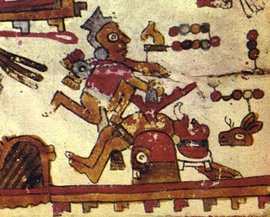 FIGURE 10. Sacrificial scene, from page 12 of the Codex Selden.