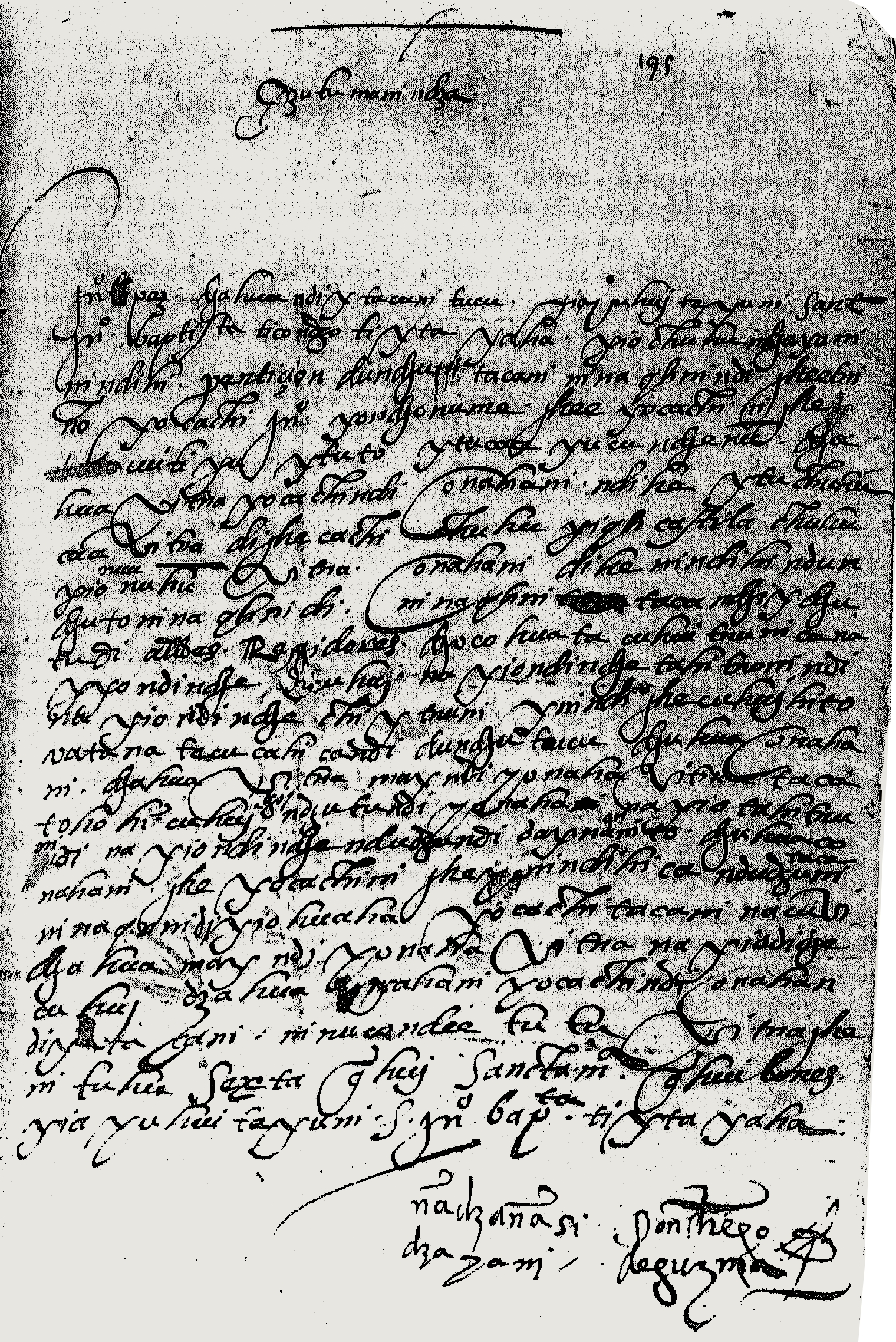 FIGURE 14. Letter from don Diego de Guzm�n, 1572.