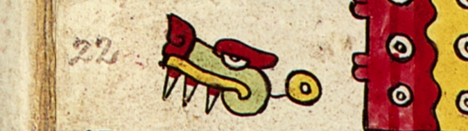 FIGURE 1. The Day 1 Alligator, from page 21 of the Codex Nuttall.